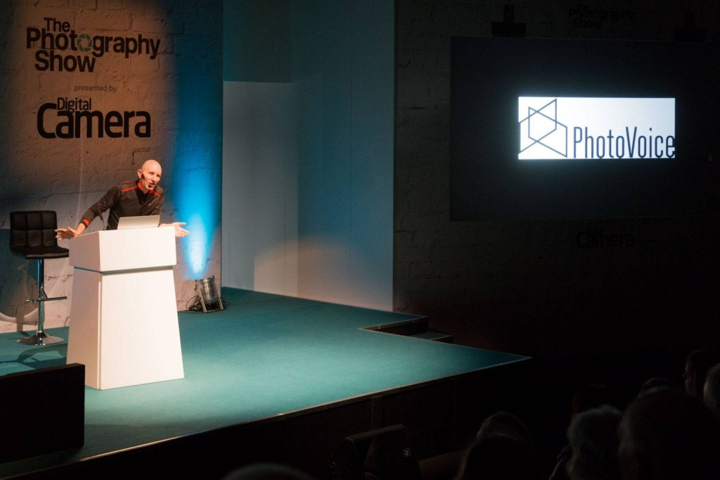 Simon's at his talk 'The passions and inspirations that gets my work into the best magazines'