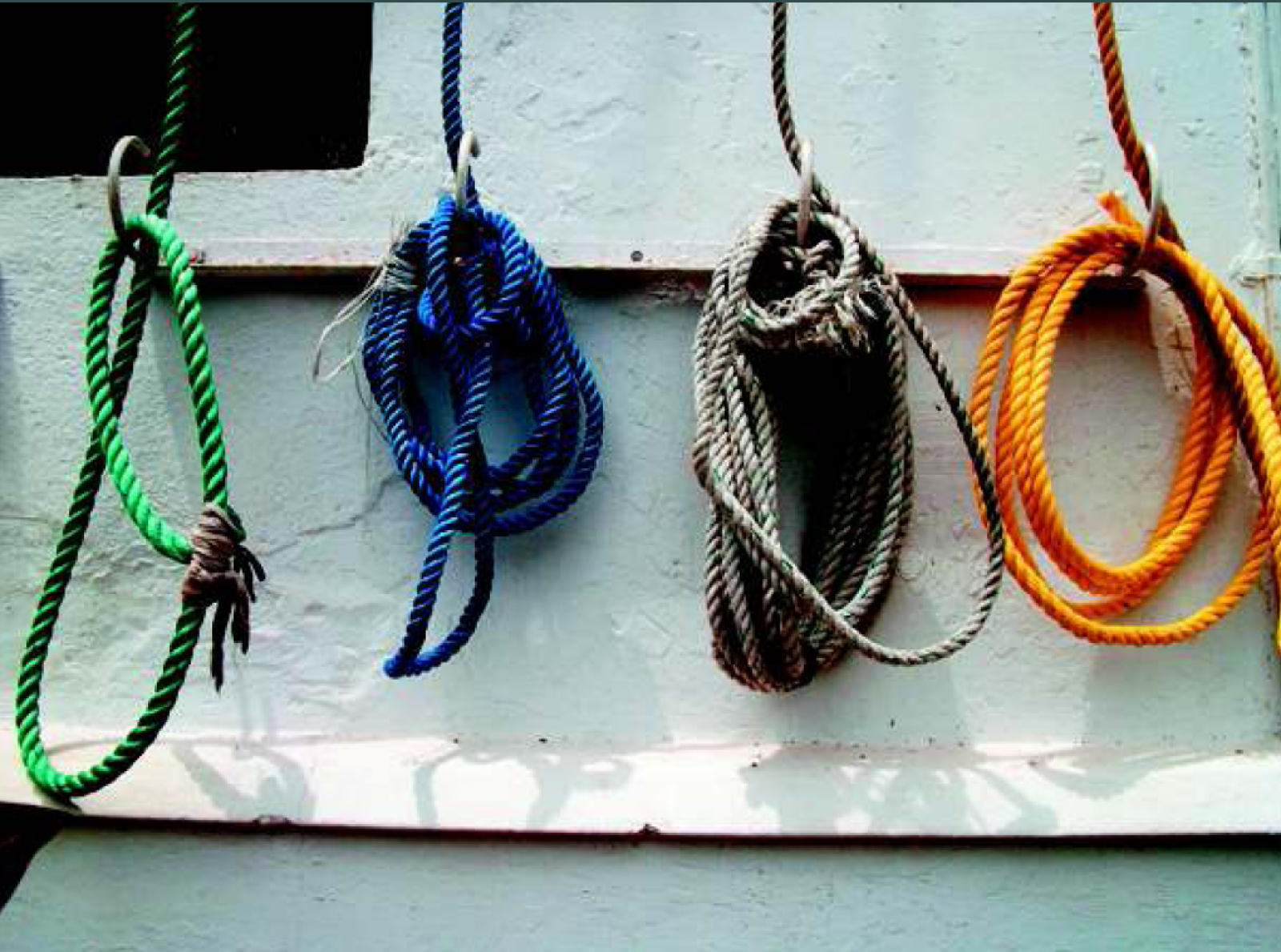 """""""By touch, all ropes feel similar, but I got interested to take this picture when I was told about the vibrant colour of the ropes. It helped me recall memories when I had sight."""" - Joseph (late blind) 2010"""