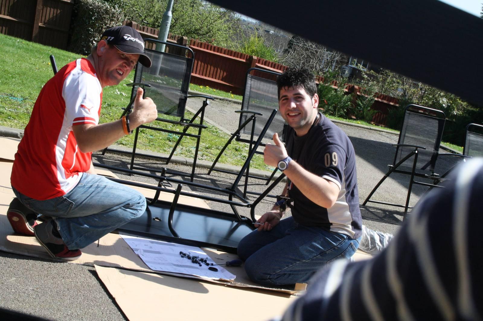 Sean Helping Chris ©Sean/Sense/PhotoVoice